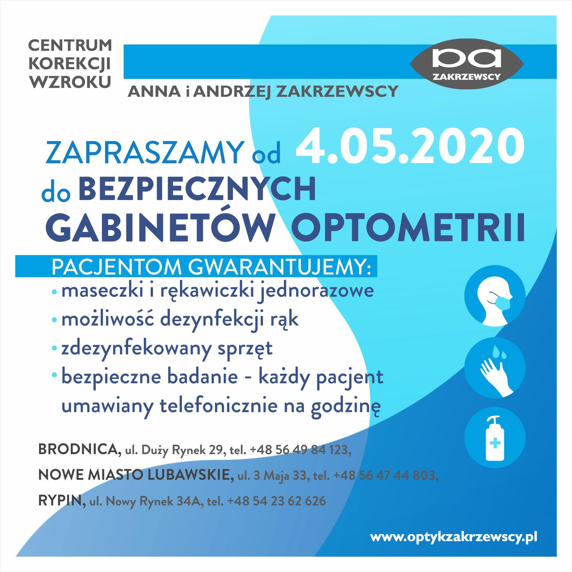 Informacja dot. bezpiecznych gabinetów